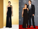 Elsa Pataky & Chris Hemsworth In Gucci - Laureus World Sports Awards 2012