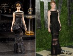 Emma Stone In Chanel Couture - 2012 Vanity Fair Oscar Party