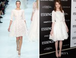 Emma Stone In Elie Saab Couture - 5th Annual ESSENCE Black Women In Hollywood Luncheon