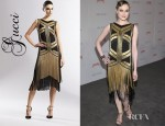 Evan Rachel Wood's Gucci Silk Chain Dress