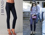 Fredia Pinto's J Brand 811 Mid Rise Skinny Jeans