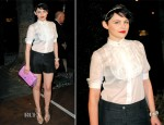 Ginnifer Goodwin In Chanel - Chanel and Charles Finch Pre-Oscar Dinner
