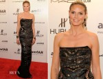 Heidi Klum In Roberto Cavalli - amfAR New York Gala To Kick Off Fall 2012 Fashion Week