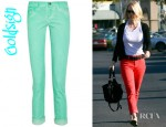 January Jones' Jenny Cropped High Rise Skinny Jeans