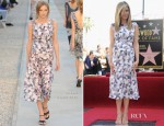 Jennifer Aniston In Chanel - The Hollywood Walk Of Fame