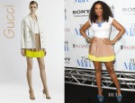 Jennifer Hudson's Gucci Bi-Color Pleated Skirt