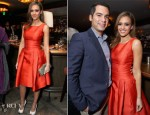Jessica Alba In Carolina Herrera - V-Day Cocktails & Conversation with Eve Ensler
