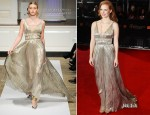 Jessica Chastain In Oscar de la Renta - 2012 BAFTA Awards