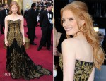 Jessica Chastain In Alexander McQueen - 2012 Oscars