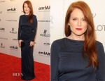 Julianne Moore In Roberto Cavalli - amfAR New York Gala To Kick Off Fall 2012 Fashion Week