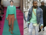 Kanye West In Acne Front Row @ Mark Fast Fall 2012