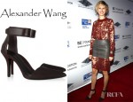 Karolina Kurkova's Alexander Wang Liya Stingray Leather And Suede Pumps