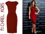 Kate Beckinsale's Michael Kors Draped Crepe Jersey Dress