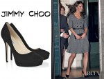 Catherine, The Duchess of Cambridge's Jimmy Choo Cosmic Suede Pumps