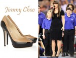 Kelly Clarkson's Jimmy Choo Sepia Two Tone Leather Pumps