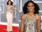 Kelly Rowland In Alberta Ferretti - 2012 Grammy Awards