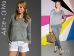 Kelly Rutherford's Alice + Olivia Cary Boxy Sweater