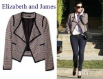 Kim Kardashian's Elizabeth And James Freddie Zig Zag Jacket