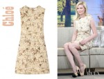 Kirsten Dunst's Chloé Floral Print Wool Canvas Dress