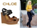 Kirsten Dunst's Chloé Leather Wedges