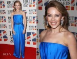 Kylie Minogue In YSL - 2012 Brit Awards