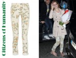 Lana Del Ray's Citizens of Humanity Mandy Printed High Waisted Straight Leg Jeans