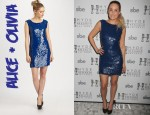 Lauren Conrad's Alice + Olivia Vista Sequined Tunic Dress