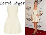 LeAnn Rimes' Hervé Léger Scalloped Bandage Dress