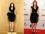 Leighton Meester In Louis Vuitton - amfAR New York Gala To Kick Off Fall 2012 Fashion Week