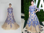 Lily Collins In Monique Lhuillier – 2012 Vanity Fair Oscar Party