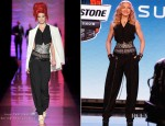 Madonna In Jean Paul Gaultier Couture - Bridgestone Super Bowl XLVI Halftime Show Press Conference