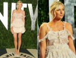 Maria Sharapova In Alexander McQueen – 2012 Vanity Fair Oscar Party