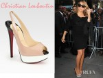 Mariah Carey's Christian Louboutin Lady Patent Leather Colorblock Peep Toe Platform Sandals