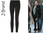 Marion Cotillard's J Brand 810 Houndstooth Print Low Rise Skinny Jeans