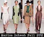 Marios Schwab Fall 2012