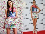 Poppy Delevingne In Mary Katrantzou for Topshop - 2012 Elle Style Awards