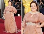 Melissa McCarthy In Marina Rinaldi - 2012 Oscars