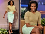 Michelle Obama In Michael Kors & J. Crew - The Tonight Show With Jay Leno