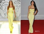 Nicole Scherzinger In Versace - 2012 Brit Awards