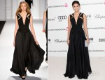 Nina Dobrev In J. Mendel - Elton John's AIDS Foundation Academy Awards Viewing Party