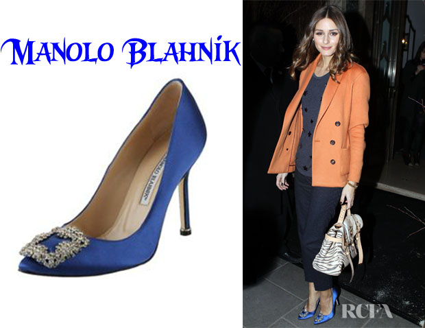 30e7133b512 ... germany who olivia palermo wearing manolo blahnik hangisi jewel satin point  toe pumps 6572c 63c17