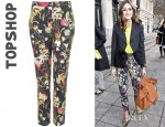 Olivia Palermo's Topshop Co-ord Tropical Slim Trousers