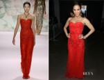 Paula Patton In Monique Lhuillier - 2012 NAACP Image Awards