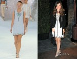 Rachel Bilson In Chanel - Chanel and Charles Finch Pre-Oscar Dinner