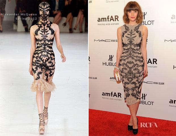 Rose Byrne In Alexander Mcqueen Amfar New York Gala To Kick Off Fall 2012 Fashion Week Red