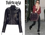 Rosie Huntington-Whiteley's Balenciaga Biker Jacket