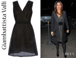 Salma Hayek's Giambattista Valli Sleeveless Dotted Dress