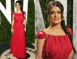 Salma Hayek In YSL - 2012 Vanity Fair Oscar Party
