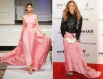 Sarah Jessica Parker In Oscar de la Renta - amfAR New York Gala To Kick Off Fall 2012 Fashion Week