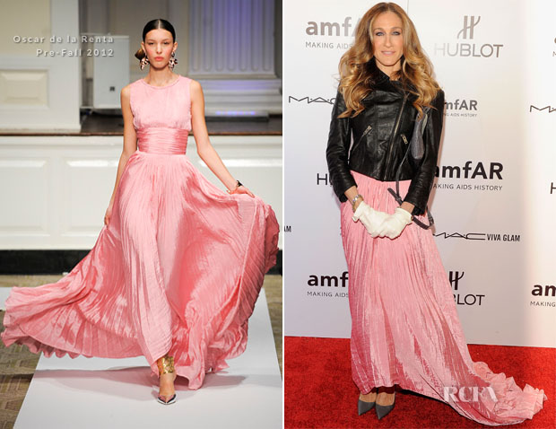 Sarah Jessica Parker In Oscar De La A Amfar New York Gala To Kick Off Fall 2017 Fashion Week